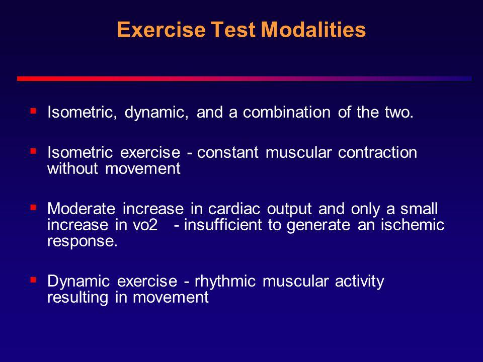 Exercise Test Modalities