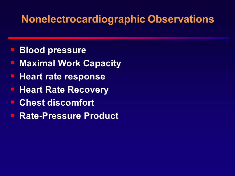 Nonelectrocardiographic Observations