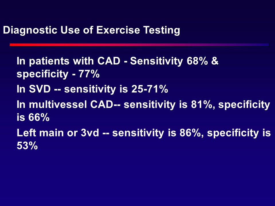 Diagnostic Use of Exercise Testing