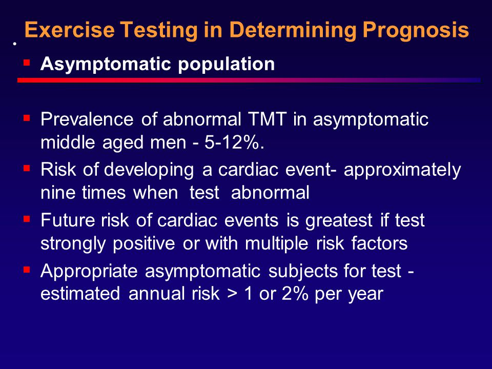 Exercise Testing in Determining Prognosis