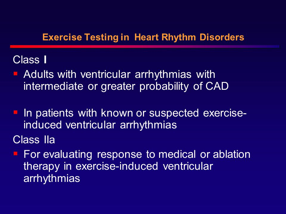Exercise Testing in Heart Rhythm Disorders