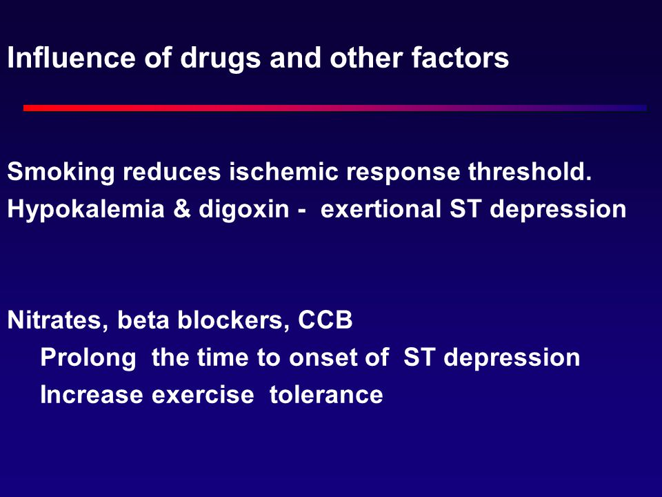 Influence of drugs and other factors
