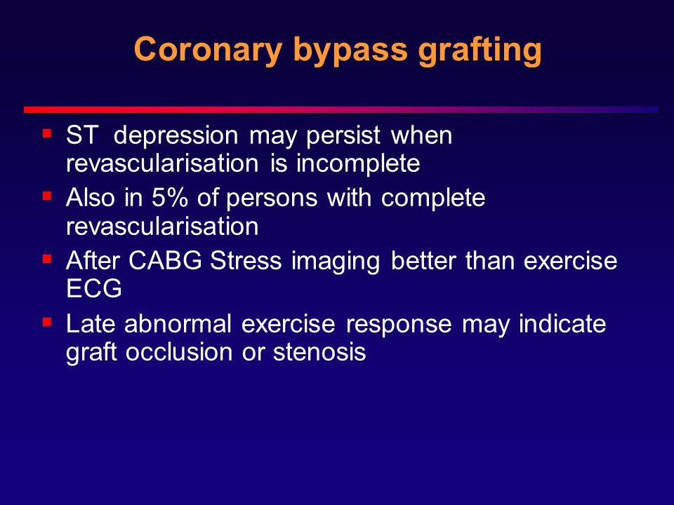 Coronary bypass grafting