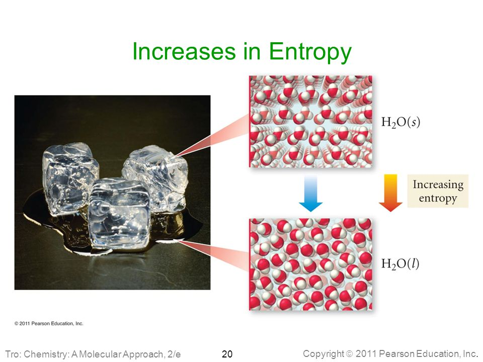 Increases in Entropy Tro: Chemistry: A Molecular Approach, 2/e