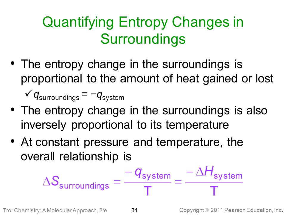 Quantifying Entropy Changes in Surroundings