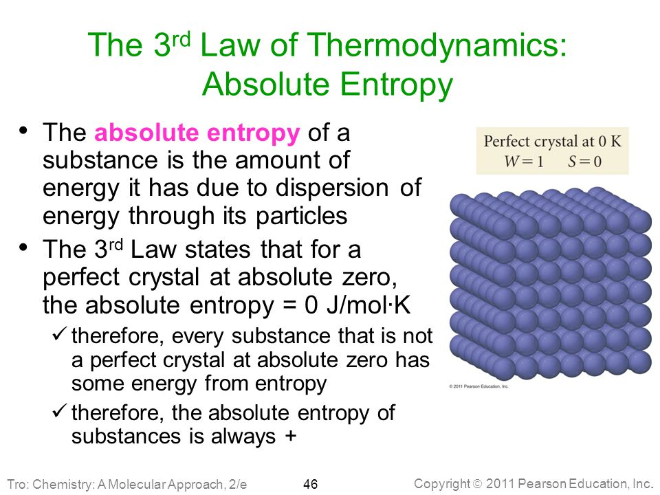The 3rd Law of Thermodynamics: Absolute Entropy