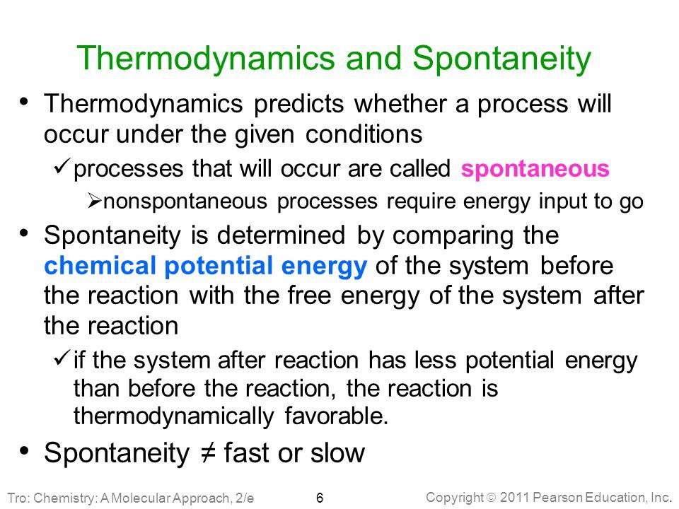 Thermodynamics and Spontaneity