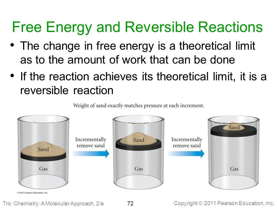Free Energy and Reversible Reactions