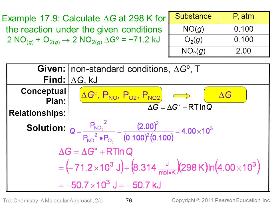non-standard conditions, DGº, T DG, kJ