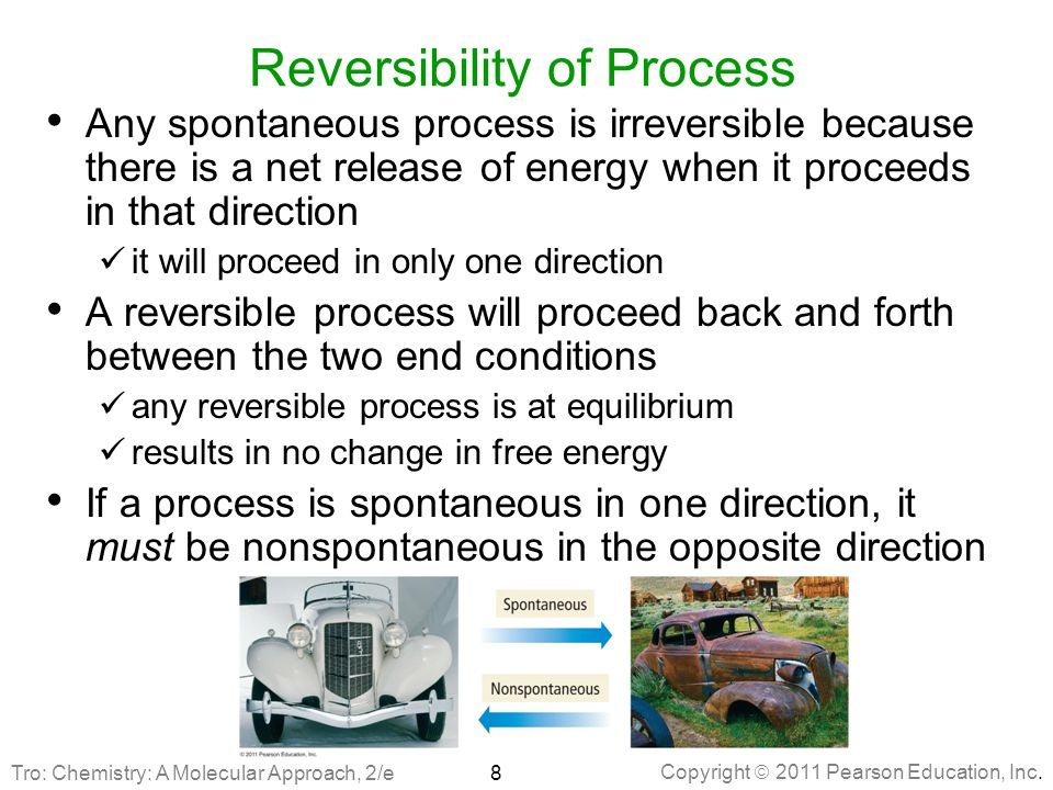 Reversibility of Process