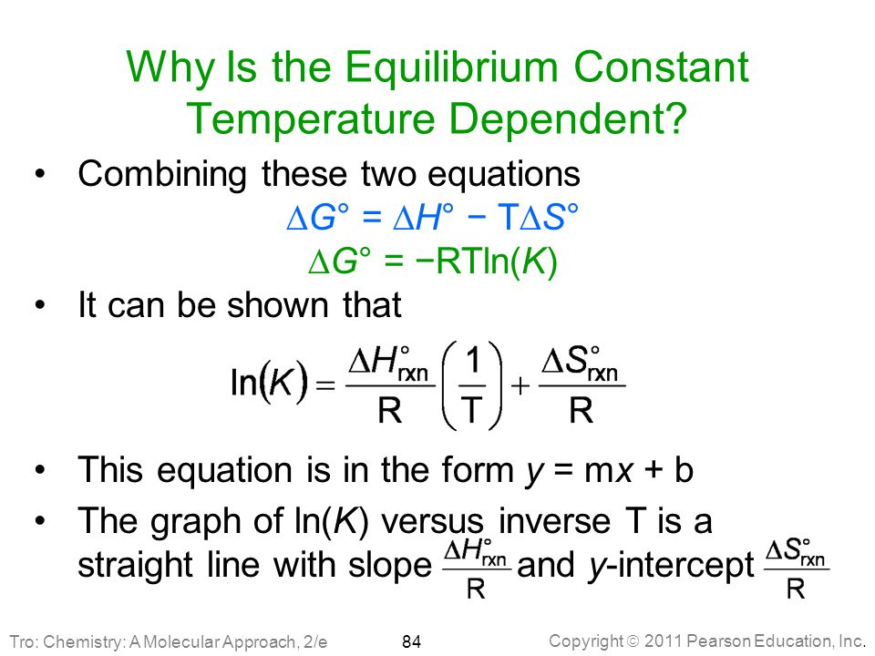 Why Is the Equilibrium Constant Temperature Dependent