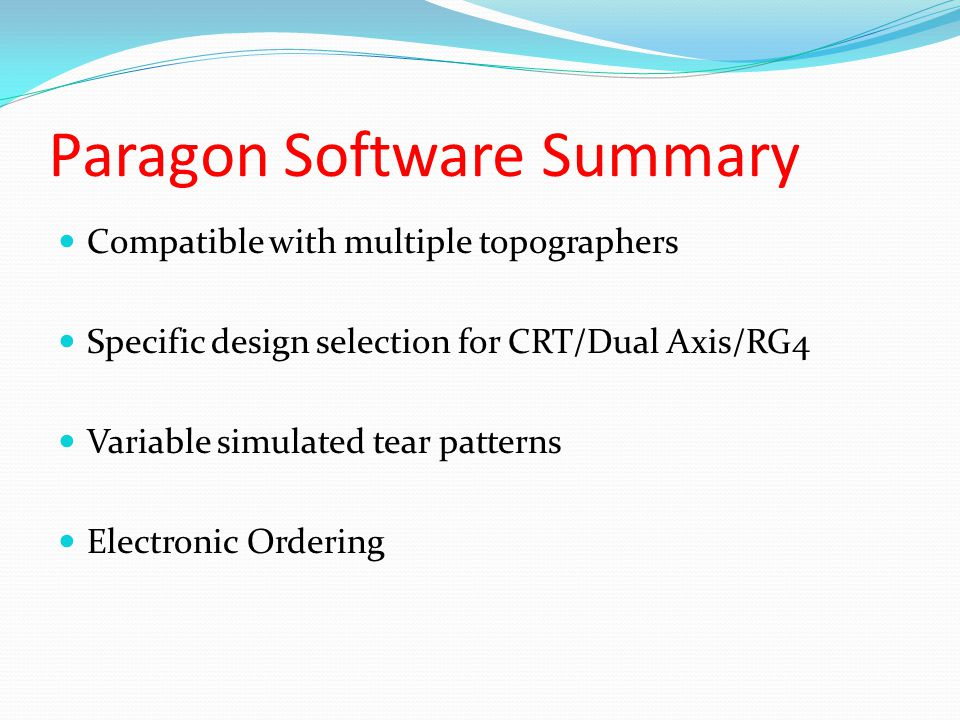 Paragon Software Summary