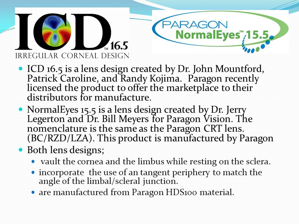 ICD 16. 5 is a lens design created by Dr