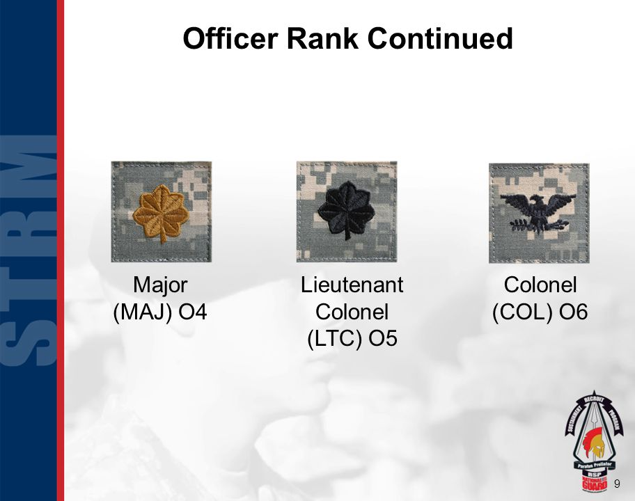 Officer Rank Continued