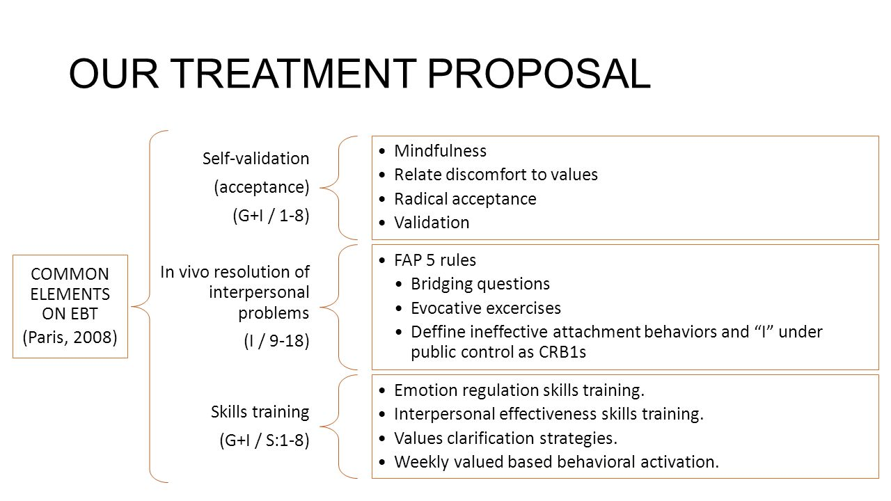 OUR TREATMENT PROPOSAL