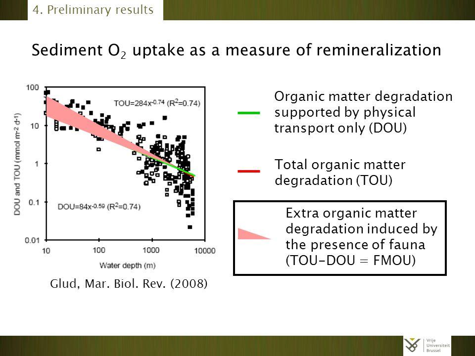 Sediment O2 uptake as a measure of remineralization