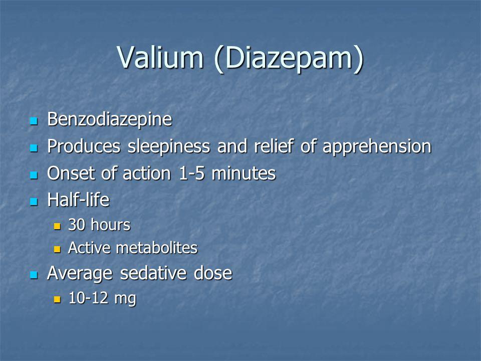 Valium (Diazepam) Benzodiazepine