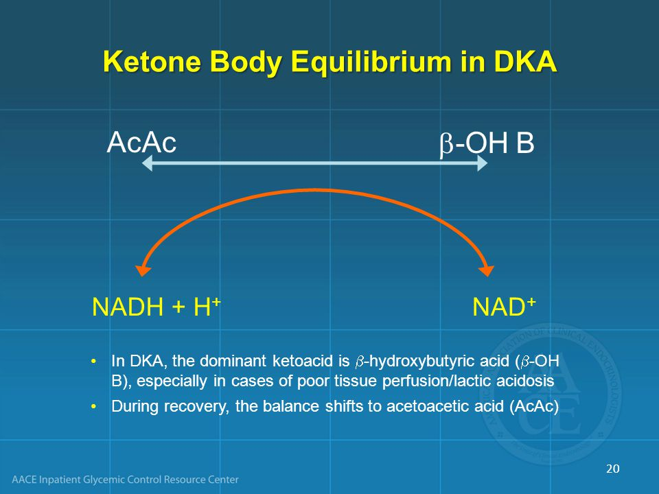 Ketone Body Equilibrium in DKA