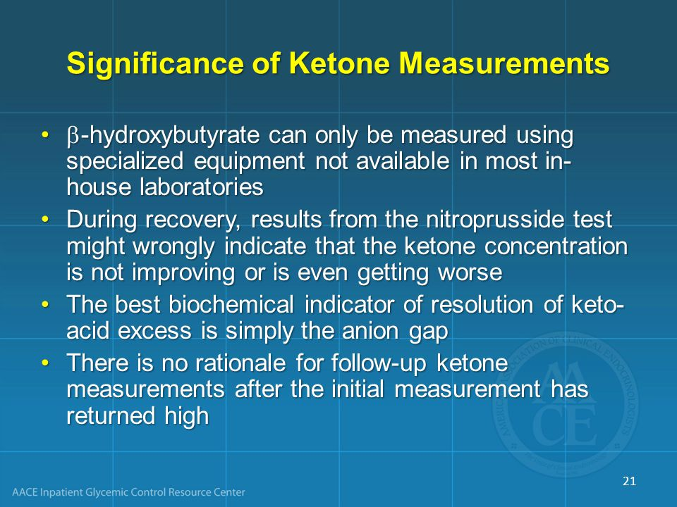 Significance of Ketone Measurements