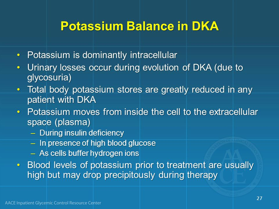 Potassium Balance in DKA
