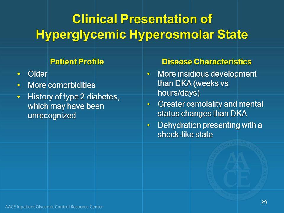 Clinical Presentation of Hyperglycemic Hyperosmolar State