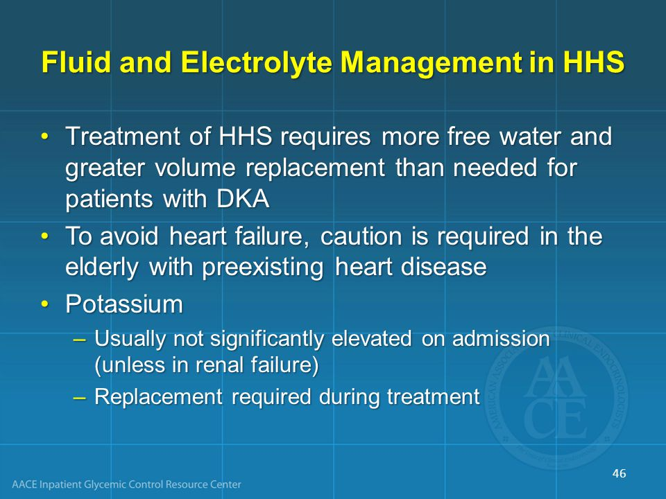 Fluid and Electrolyte Management in HHS