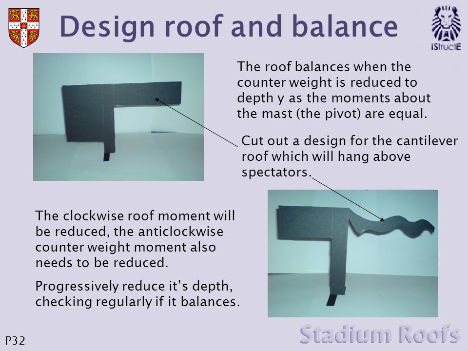 Design roof and balance