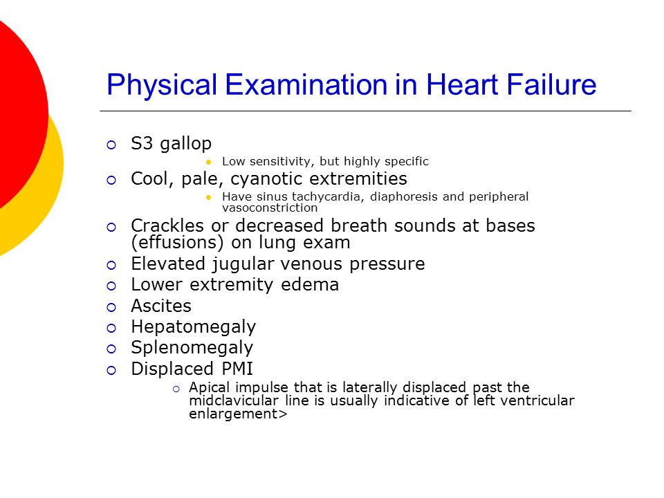 Physical Examination in Heart Failure