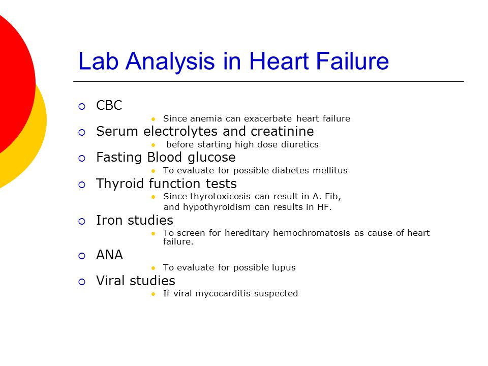 Lab Analysis in Heart Failure