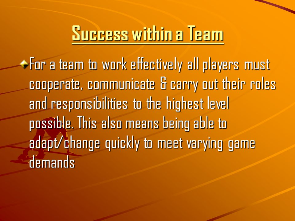 Success within a Team