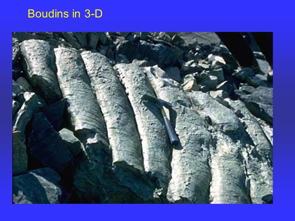 Boudins in 3-D
