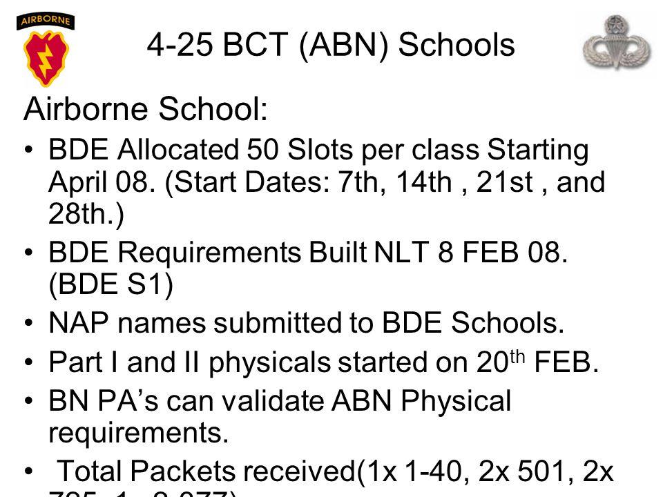 4-25 BCT (ABN) Schools Airborne School: