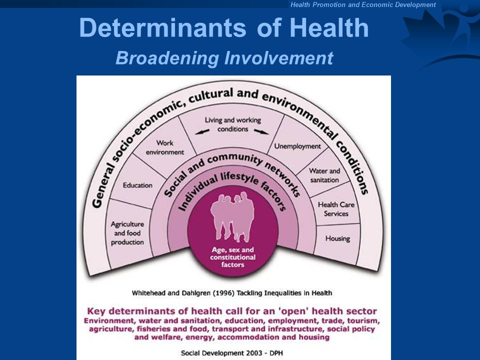 Determinants of Health Broadening Involvement