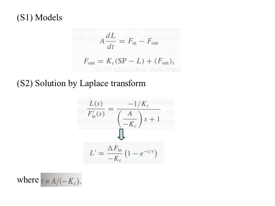 (S1) Models (S2) Solution by Laplace transform where