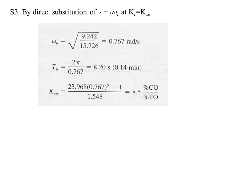 S3. By direct substitution of at Kc=Kcu