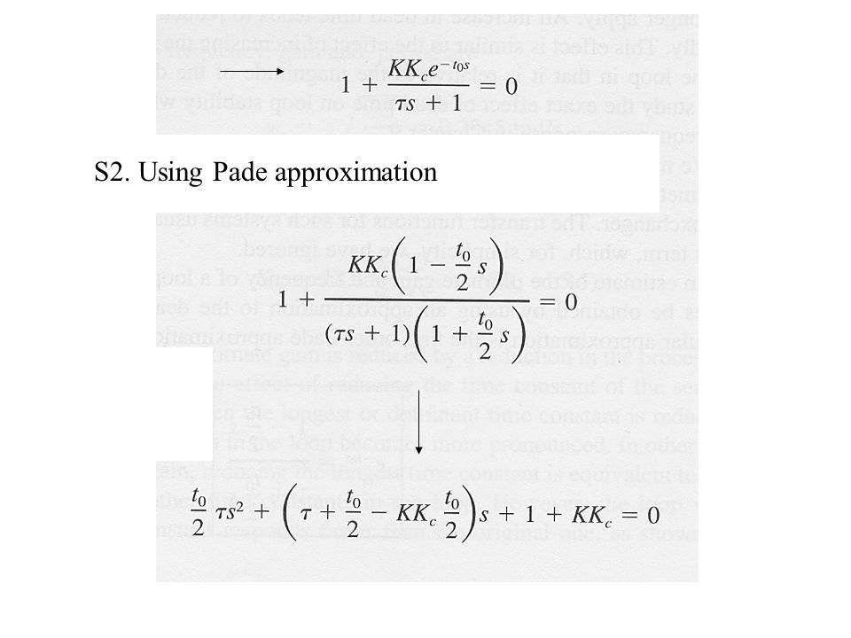 S2. Using Pade approximation