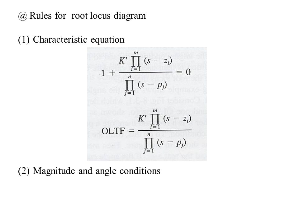 @ Rules for root locus diagram