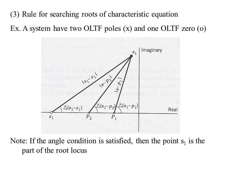 Rule for searching roots of characteristic equation
