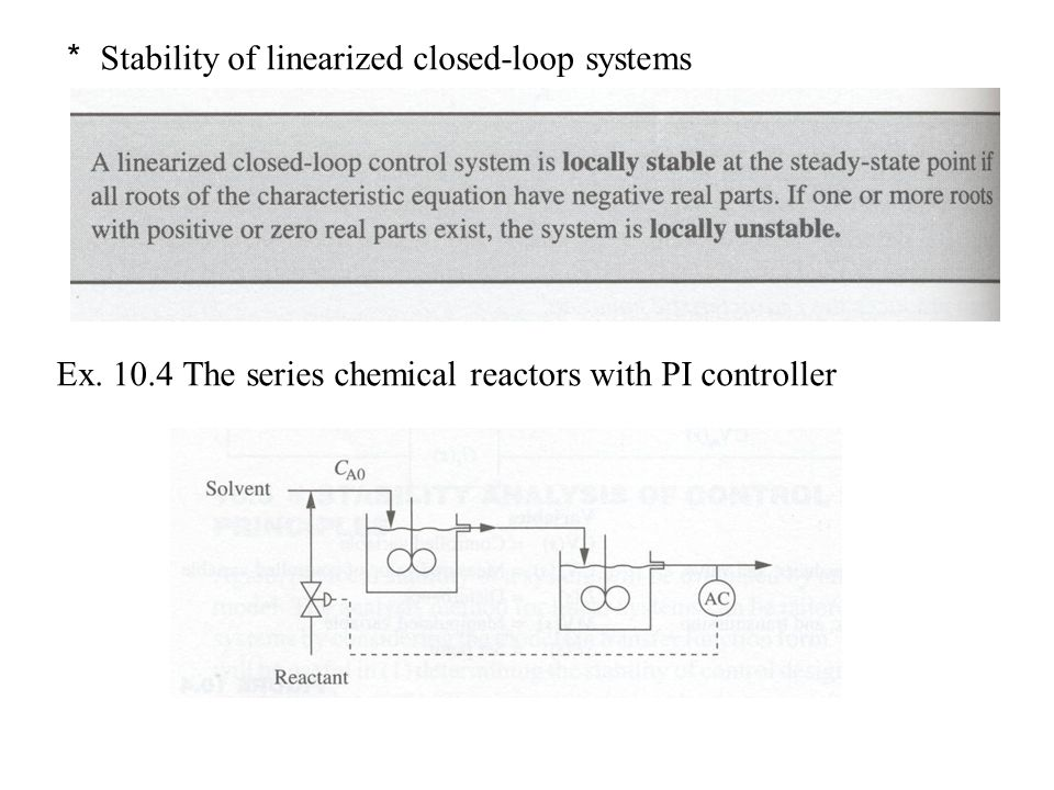 * Stability of linearized closed-loop systems