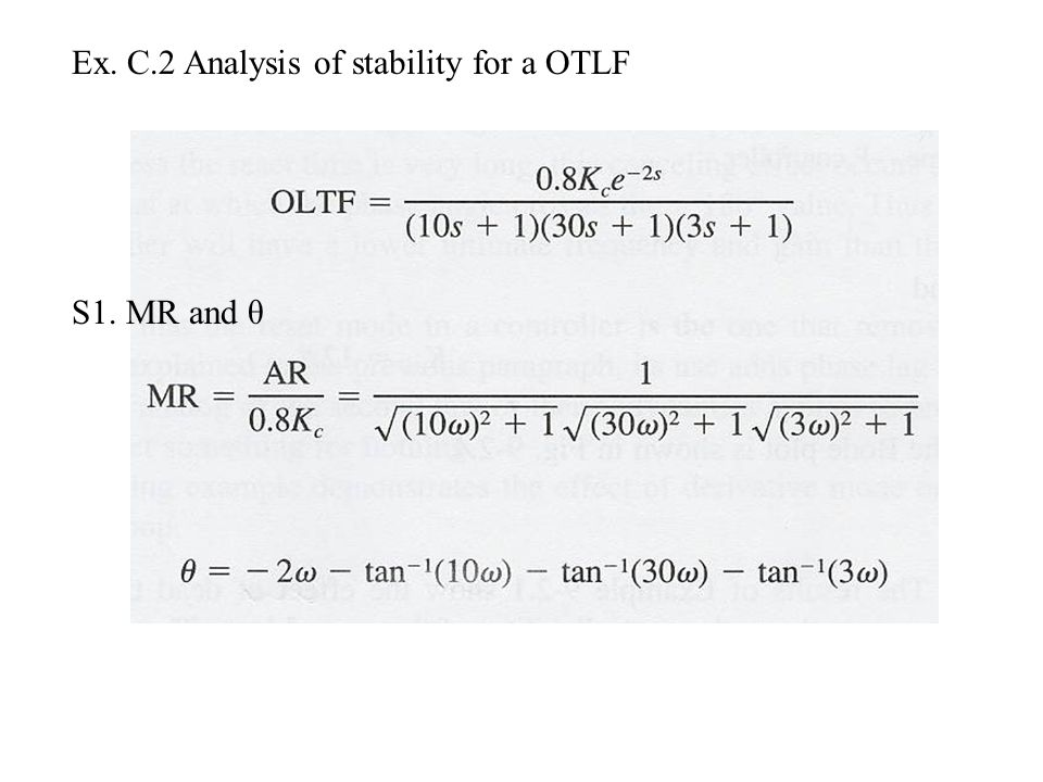 Ex. C.2 Analysis of stability for a OTLF