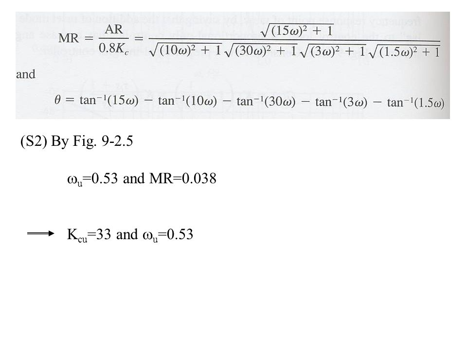 (S2) By Fig u=0.53 and MR=0.038 Kcu=33 and u=0.53