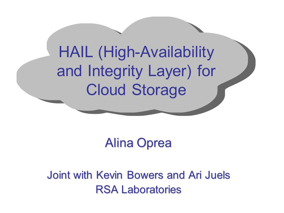 HAIL (High-Availability and Integrity Layer) for Cloud Storage