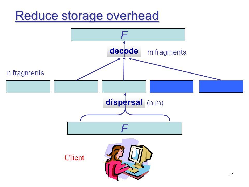 Reduce storage overhead