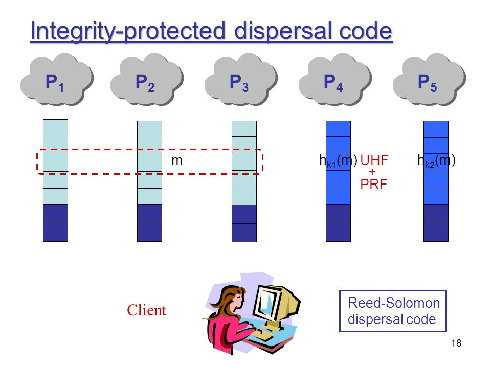 Integrity-protected dispersal code