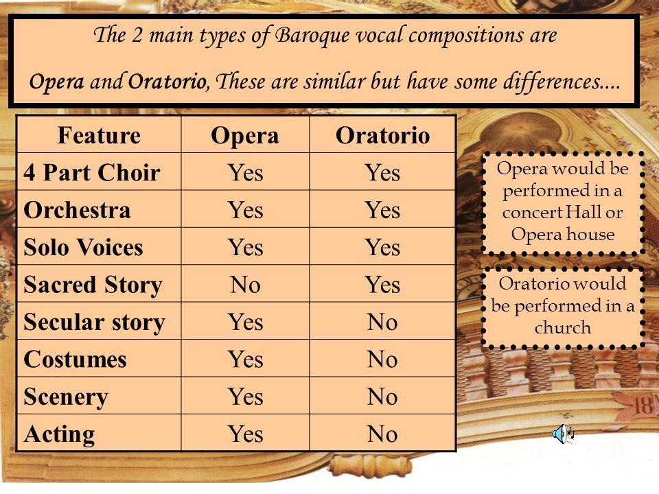 Feature Opera Oratorio