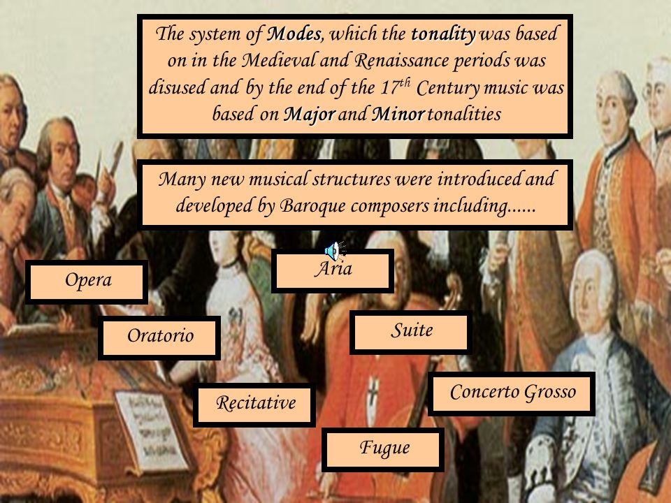 The system of Modes, which the tonality was based on in the Medieval and Renaissance periods was disused and by the end of the 17th Century music was based on Major and Minor tonalities