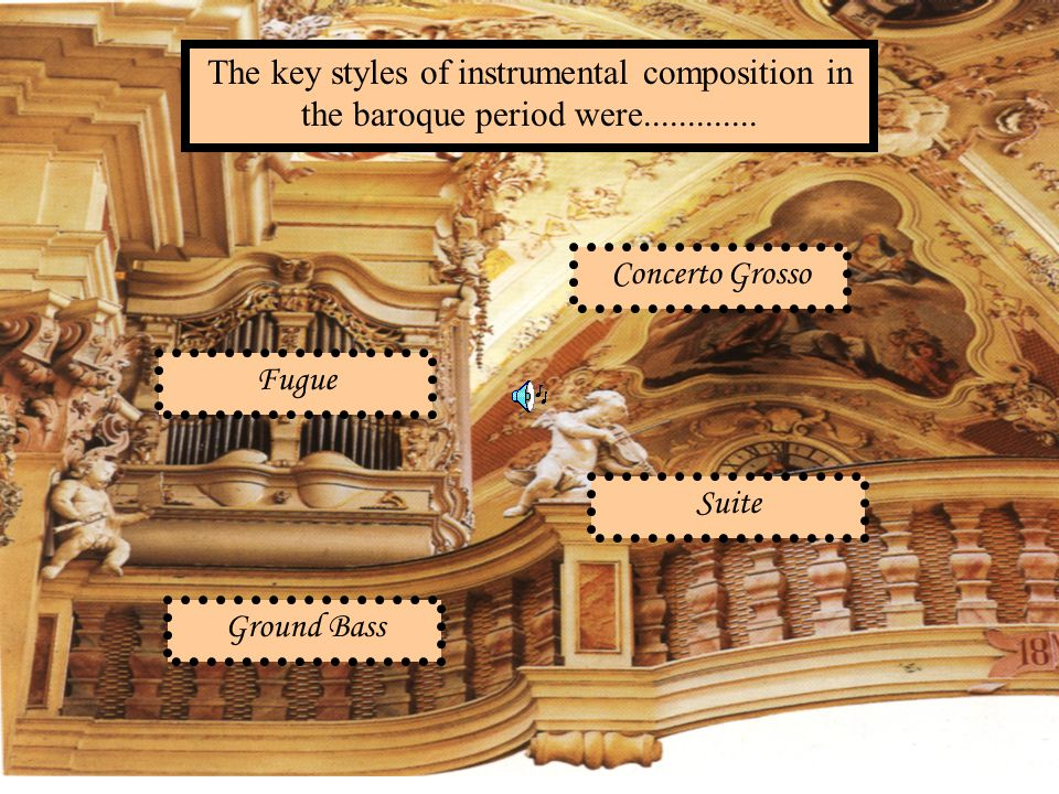 The key styles of instrumental composition in the baroque period were.............