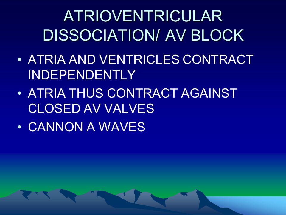 ATRIOVENTRICULAR DISSOCIATION/ AV BLOCK