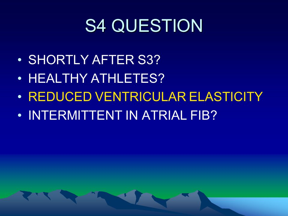 S4 QUESTION SHORTLY AFTER S3 HEALTHY ATHLETES