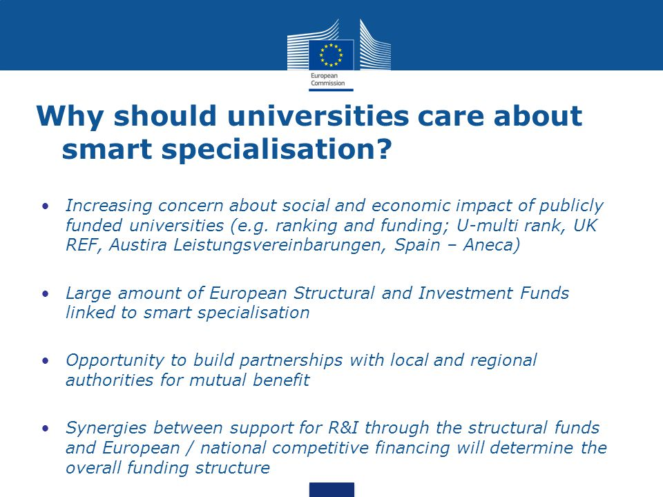 Why should universities care about smart specialisation